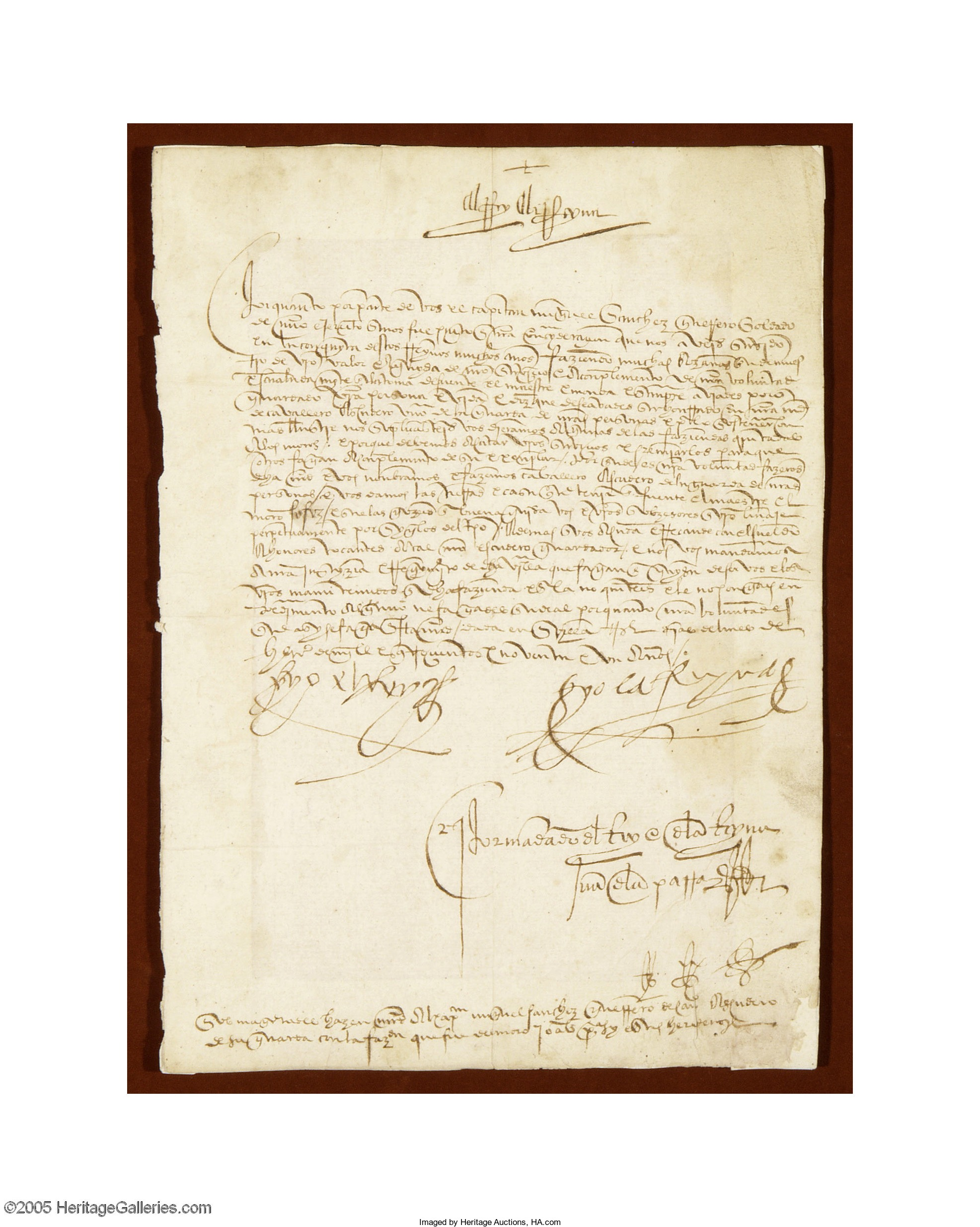 King Ferdinand II and Queen Isabella I 1492 Document Signed