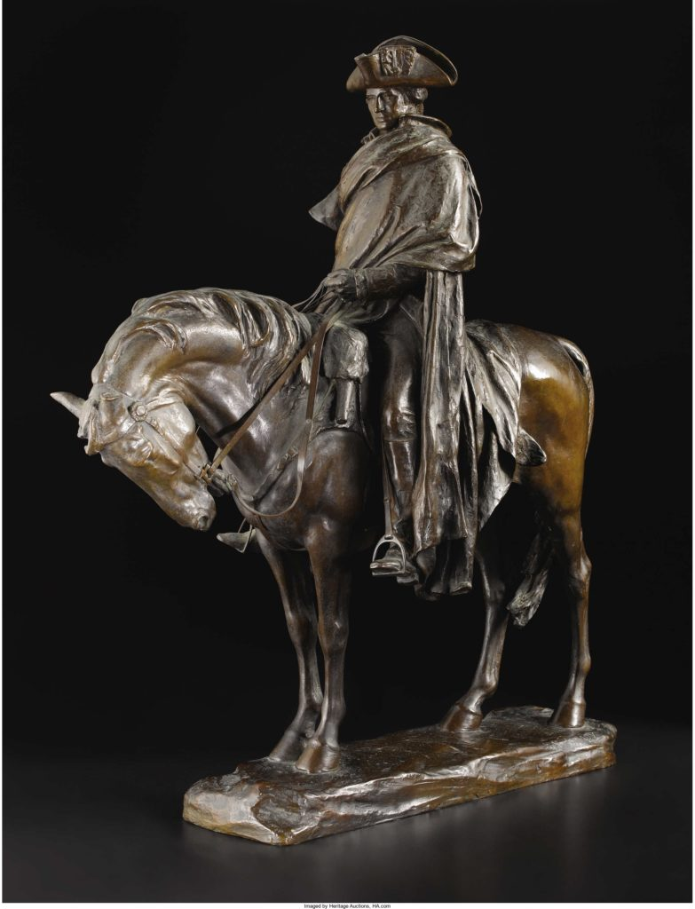 Bronze Sculpture of George Washington at Valley Forge