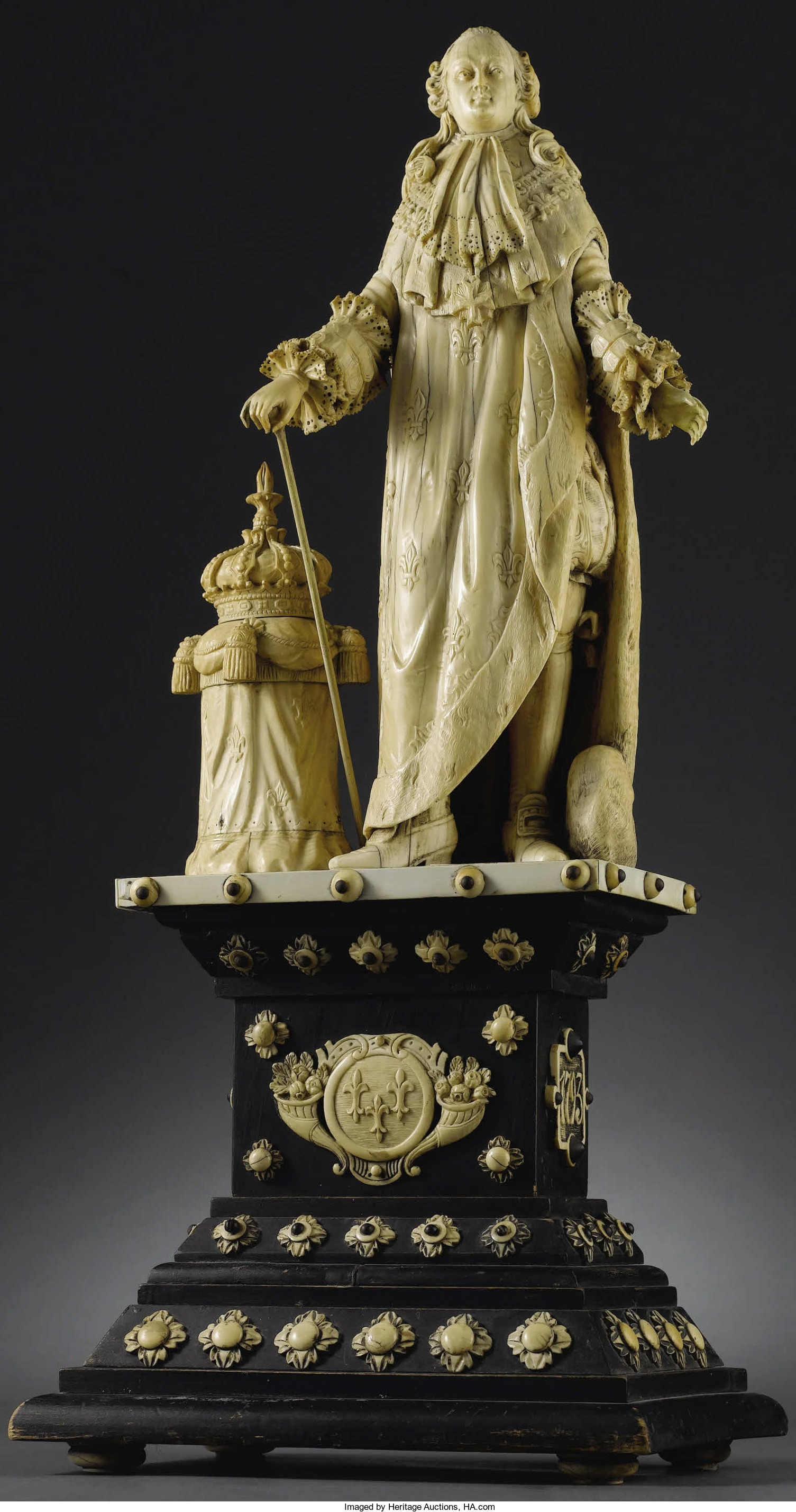 French Carved Ivory Figure Of Louis XVI