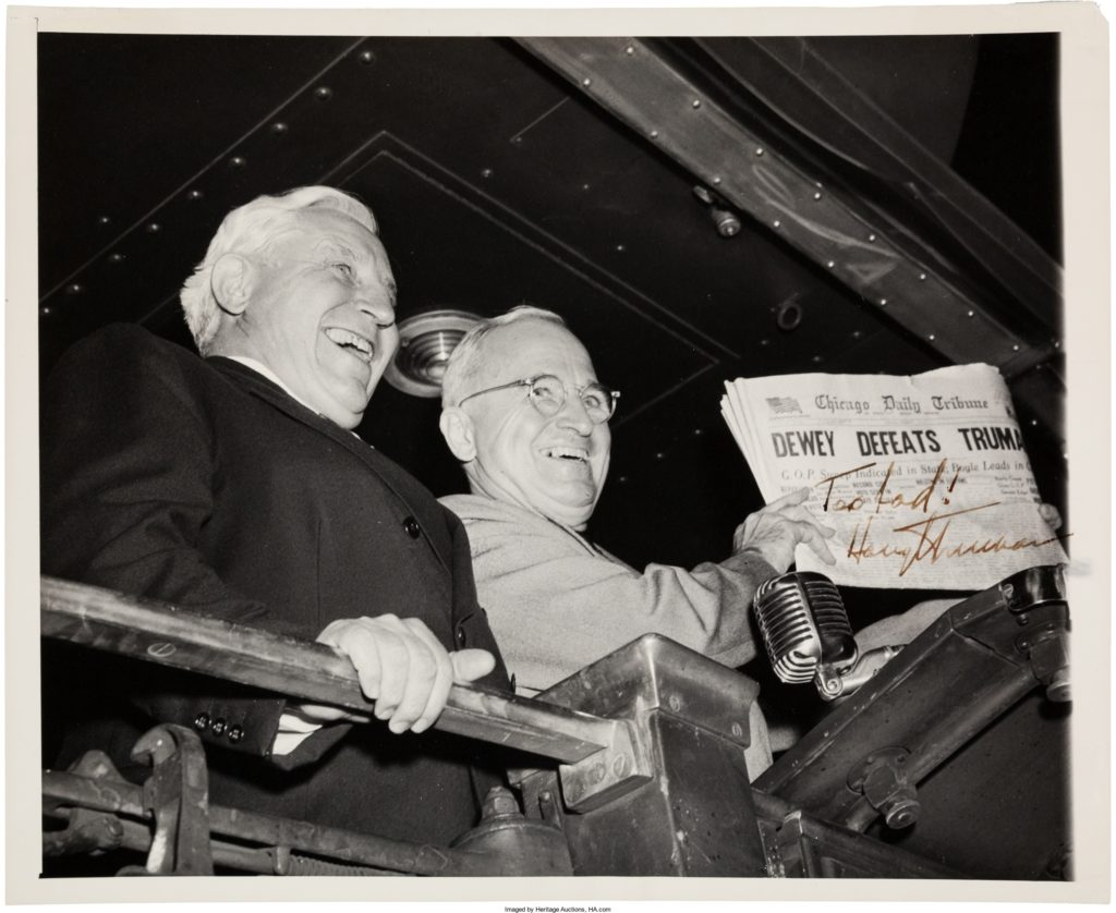 Harry S. Truman Inscribed Photo Signed