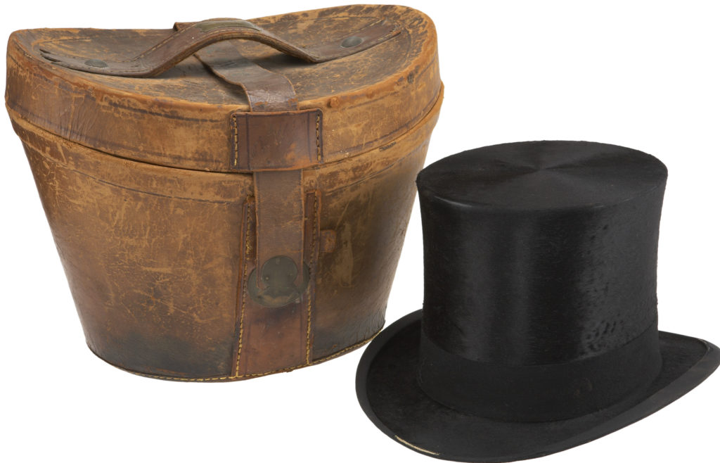 william-mckinley-beaver-top-hat-with-leather-traveling-case