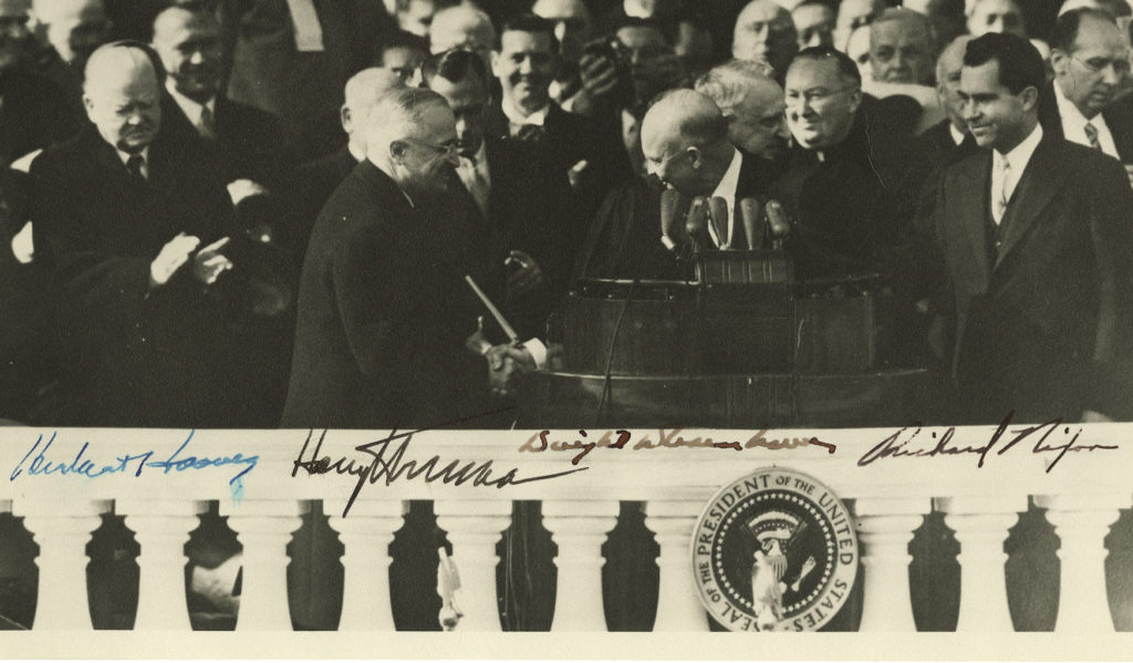 eisenhower-inaugural-photograph-signed-by-four-presidents