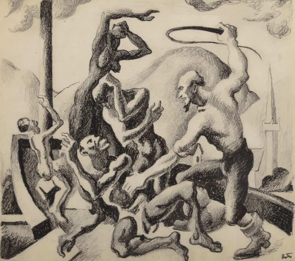 thomas-hart-benton-slave-master-with-slaves-study-for-the-american-historical-epic
