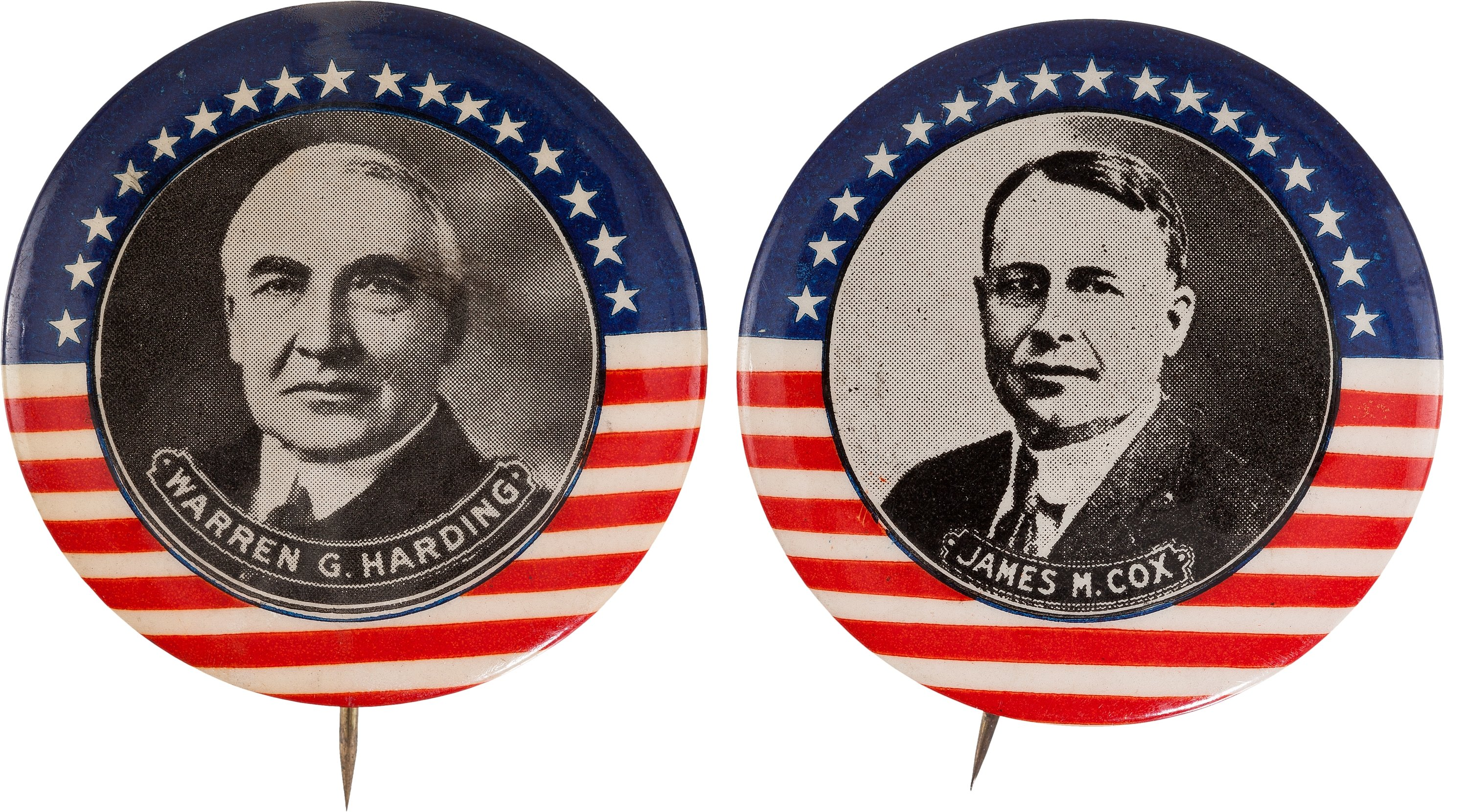 warren-g-harding-and-james-m-cox-absolutely-stunning-matched-pair-of-large-1920-rarities