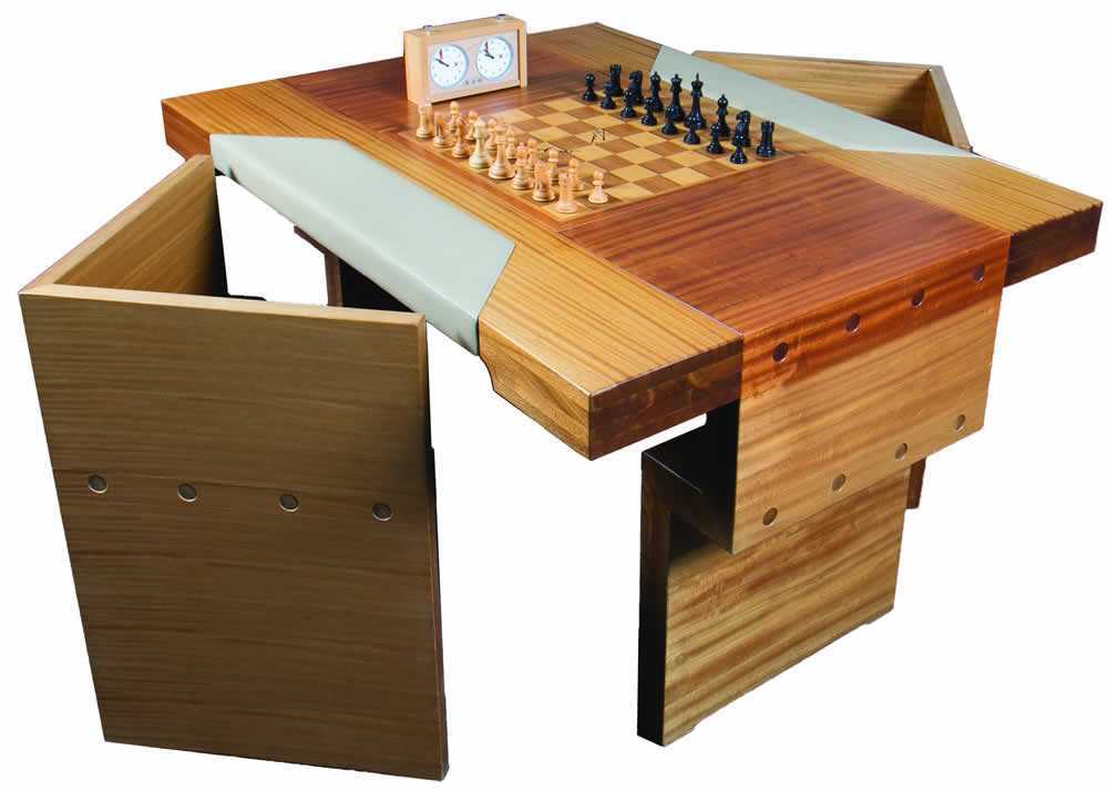 Legendary Chessboard The Intelligent Collector Business Type Antique Bamboo Furniture Smart Home Chess Table Three
