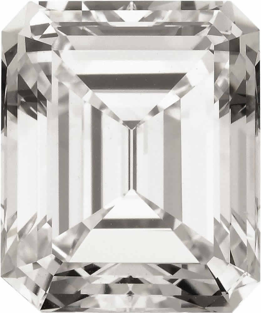 J-Unmounted Emerald-cut Diamond, Type IIa