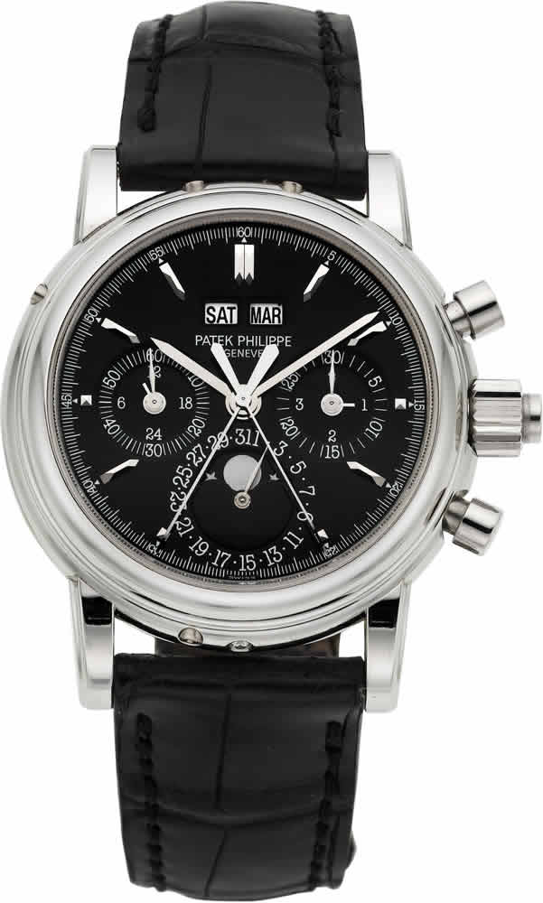 T-Patek Philippe Ref. 5004P Extremely Rare And Important Platinum Wristwatch