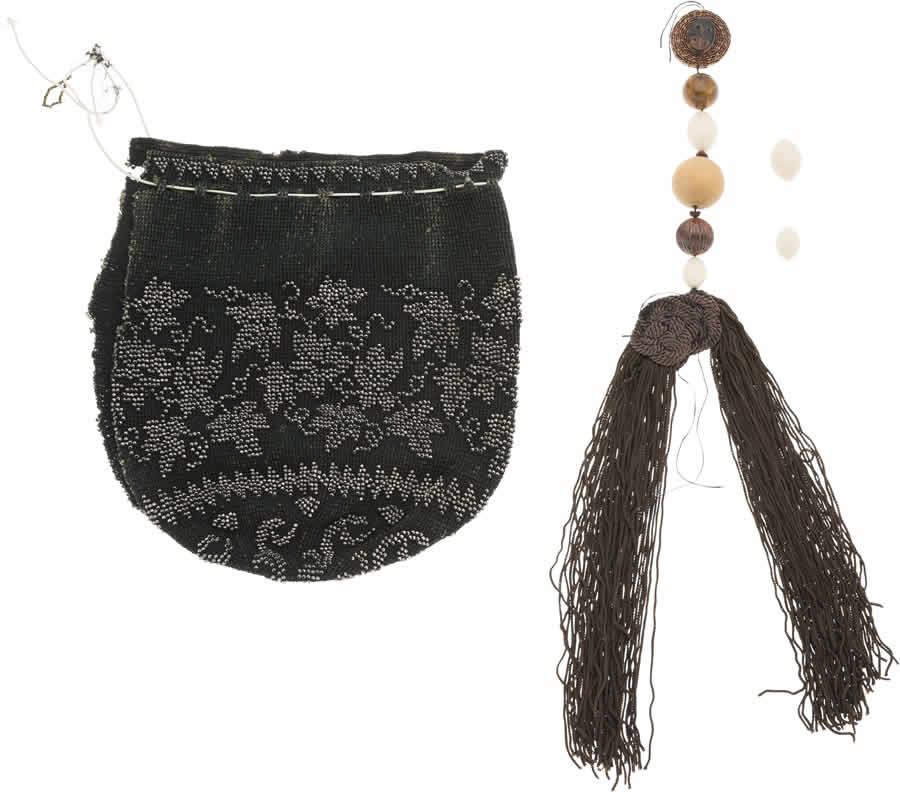 Beaded Bag with Tassel