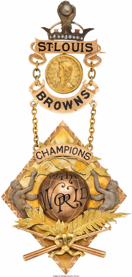 1886 S Louis Browns World Championship Award