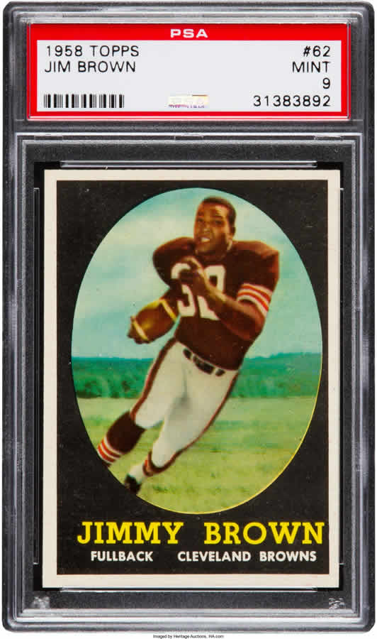 1958 Topps #62 Jim Brown