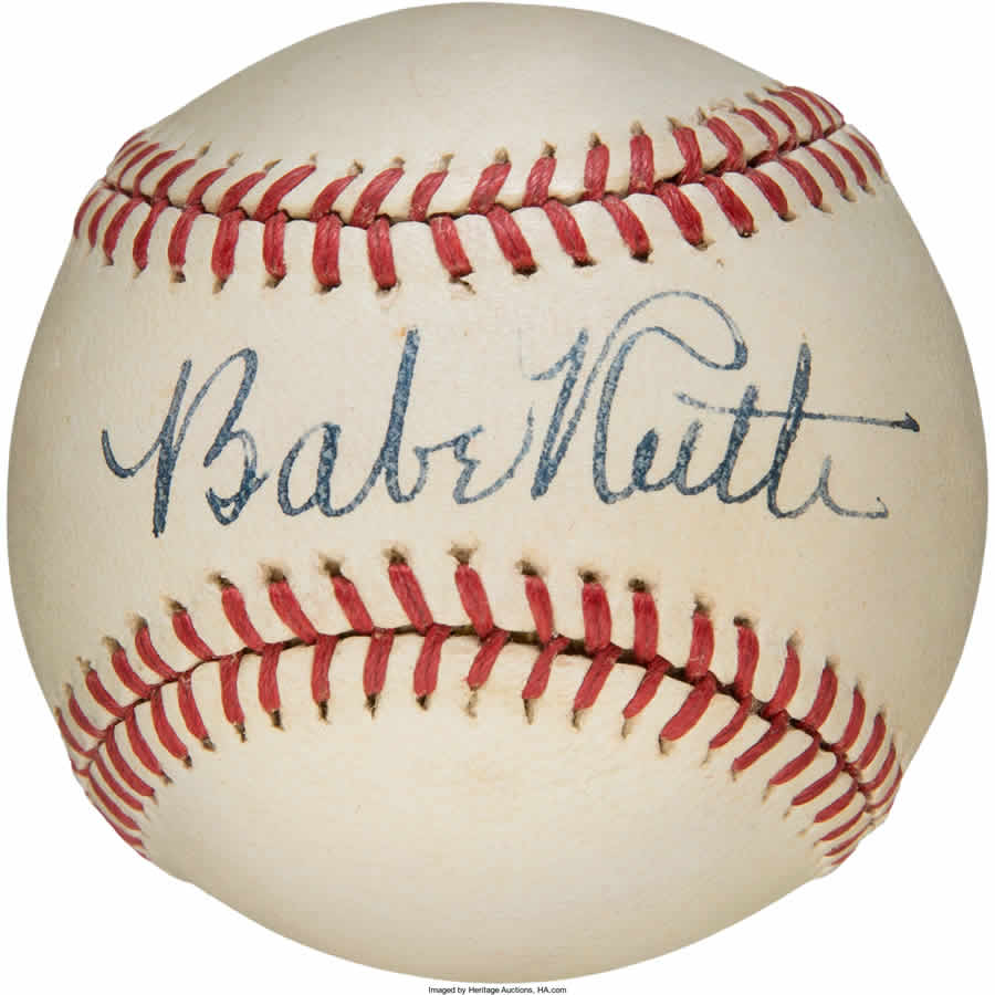 Early 1940s Babe Ruth Single Signed Baseball