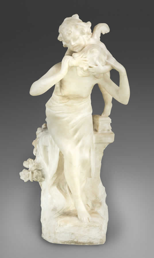After Auguste Moreau (1834-1917) Continental Carved Marble