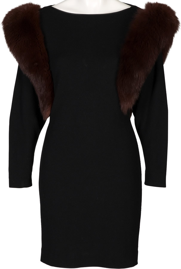 Connie Francis Personally Owned Black Cashmere Dress