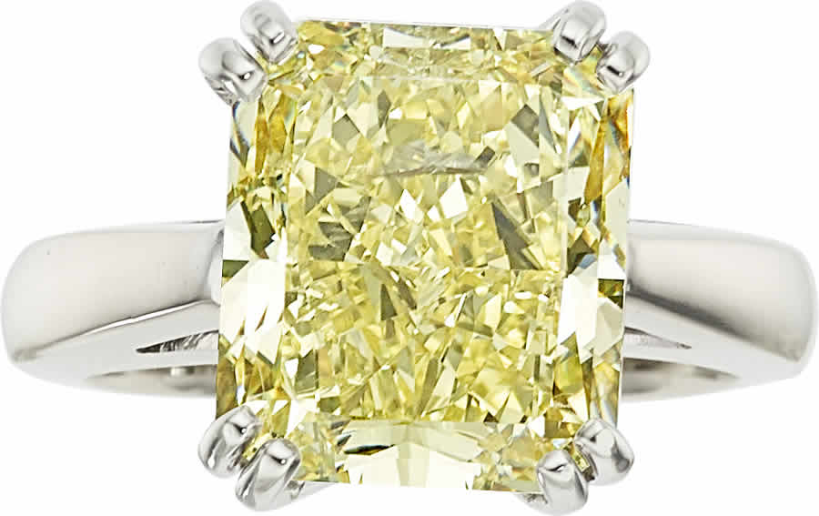 Fancy Intense Yellow Diamond, White Gold Ring