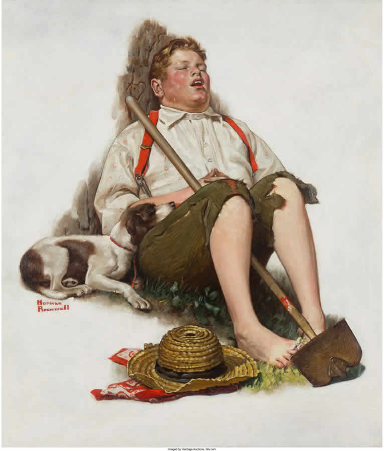 Lazybones, Saturday Evening Post cover
