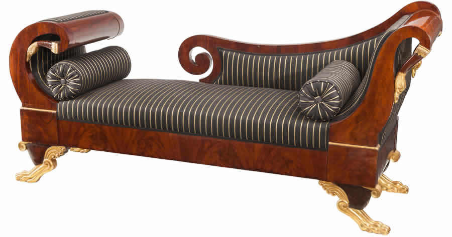 Portuguese Empire recamier/daybed