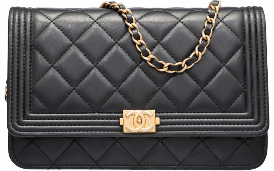 c198c0221c9b Authentic Wallet on Chain bags, like this Chanel Black Quilted Lambskin  Leather Boy with Gold Hardware, can easily sell for more than $2,000.