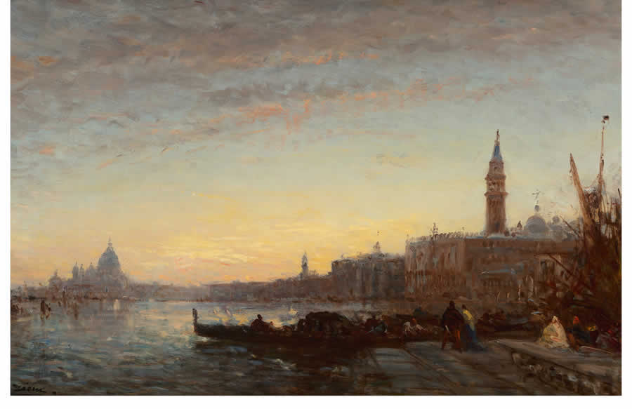 Oil painting - Gondoliers